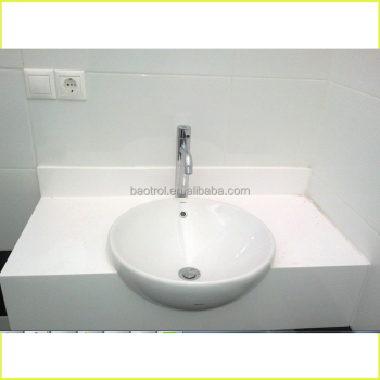 Public Toilet Vanity Top Artificial Marble Solid Surface Bathroom Tops