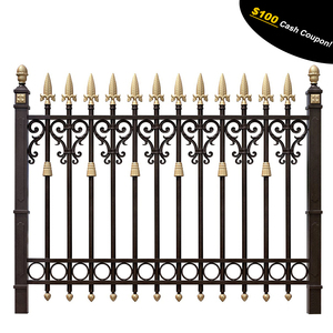 Aluminum wrought aluminum metal fence decorative backyard garden fence railing aluminum
