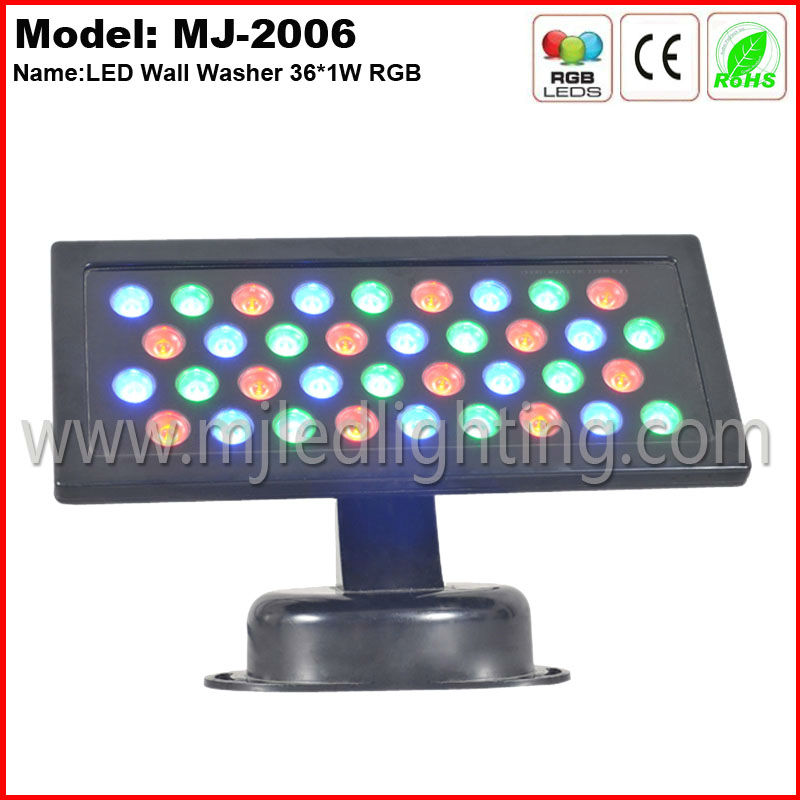 mini outdoor led light 36W RGB IP65 square architectural lighting
