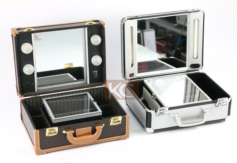 Lighting Cosmetic Case With Mirror Professional Makeup