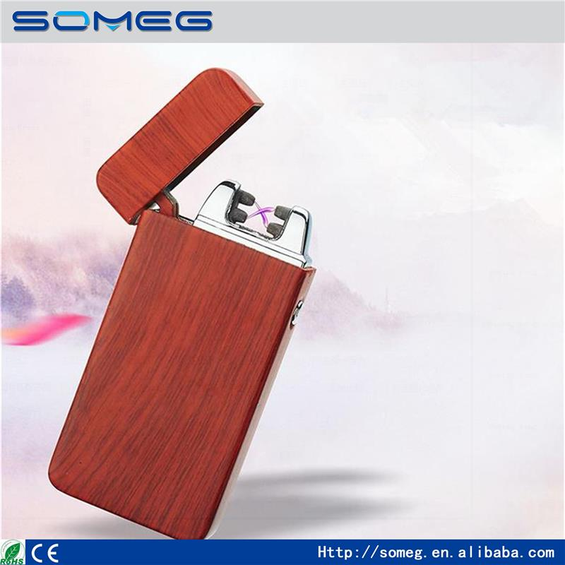 wholesale Personality stone <strong>Grain</strong> Cross Double Arc Lighter Case USB Lighters Electronic Metal Men Cigarette Lighter Gifts-JL606