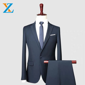 High quality mens wool business suit custom made fashion professional formal business suit for officer wear