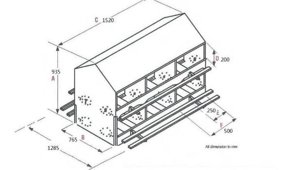 Goldenest Hot 24 Holes Chicken Egg Nest Box Nest For Laying Hens