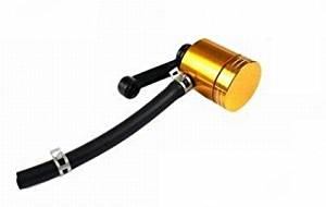 Gold Universal CNC OEM Oil Reservoir Tank Billet Motorcycle Brake Clutch Master Cylinder Fluid Fit For KAWASAKI ZX6R/ZX636R/ZX6RR 2000-2004