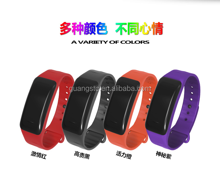Smart Watch Wristband Heart Rate Monitoring IP67 Waterproof Measuring Blood Pressure C1 Smart bracelet