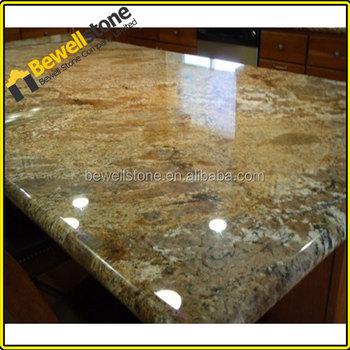 Precut Brazil Gold Granite Countertops, Good Price Ellow And Golden Granite  Tops, Prefabricated River