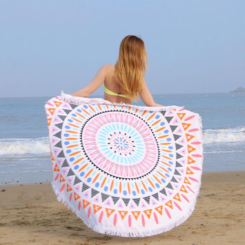 2017 microfibra personalizada ronda toalla de playa textiles para el hogar toallas de playa - Toallas redondas de playa ...