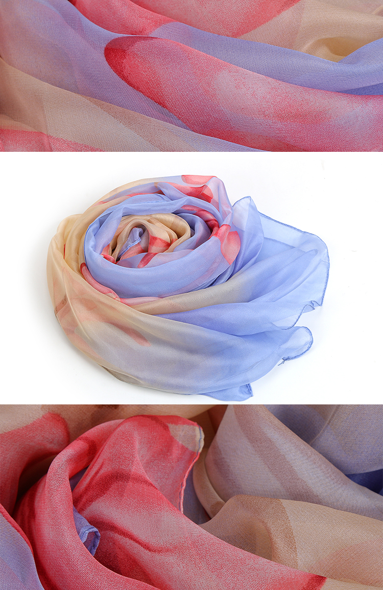 HC-XF003  low price stock women chiffon scarf for girls and lady 140*180cm