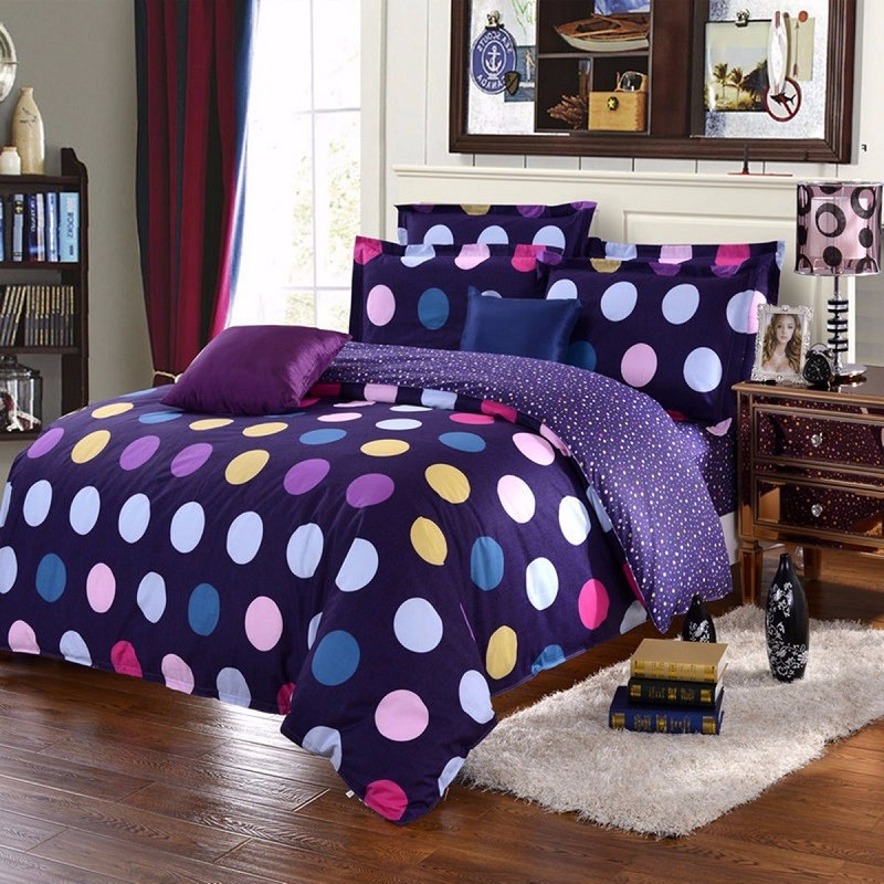 f81252e3a1 Wholesale New Colorful Bedding Set Single/Double/King Polyester Circle  Comforter Bedclothes Soft Duvet Quilt Cover Pillow Case Sheet Luxury Duvet  Covers ...
