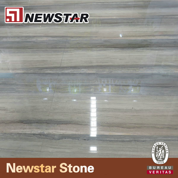 Newstar Silan Wooden Wood Look Marble Tiles & Slabs For Lobby Flooring And Wall Design Pattern