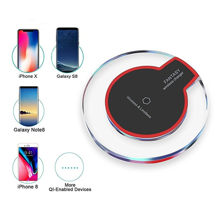 Led Qi Wireless Charging Pad For Samsung S9