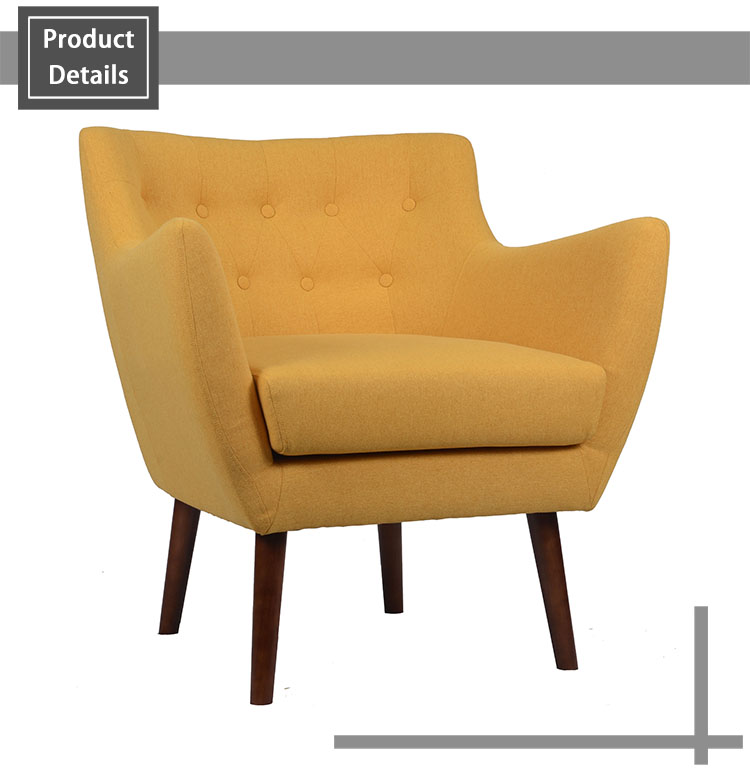 Hot selling tufted button back armchair, Fabric accent chair, club chair, Tub chair