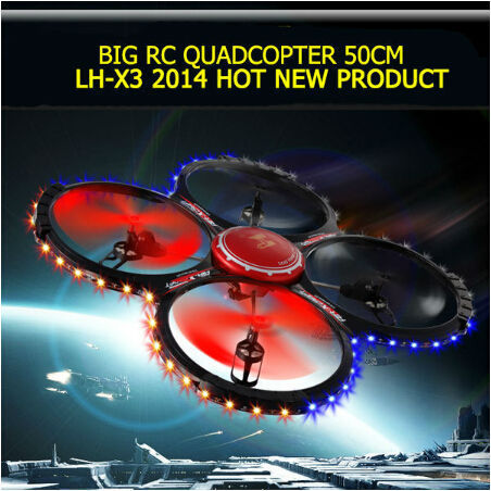 2.4GHz 4 CH 6 Axis Gyro BIG RC Quadcopter realtime transmission video feed airplane toys