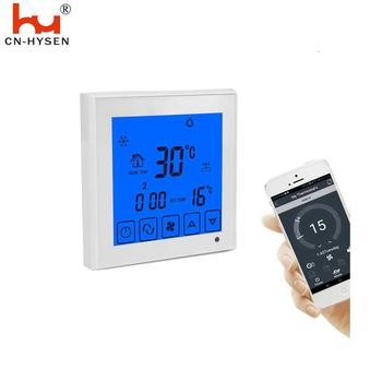 Wifi Touch Screen HVAC System Room Thermostat For Heating And Cooling