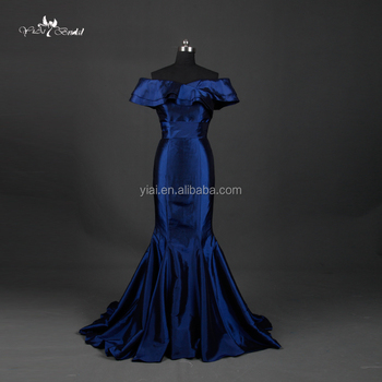 Te002 Prom Dress Taffeta Fabric Royal Blue Mermaid Bodycon Dress