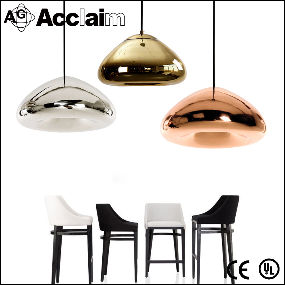 Hanging european style decoration indoor art glass bowl modern led pendant light for theme pub