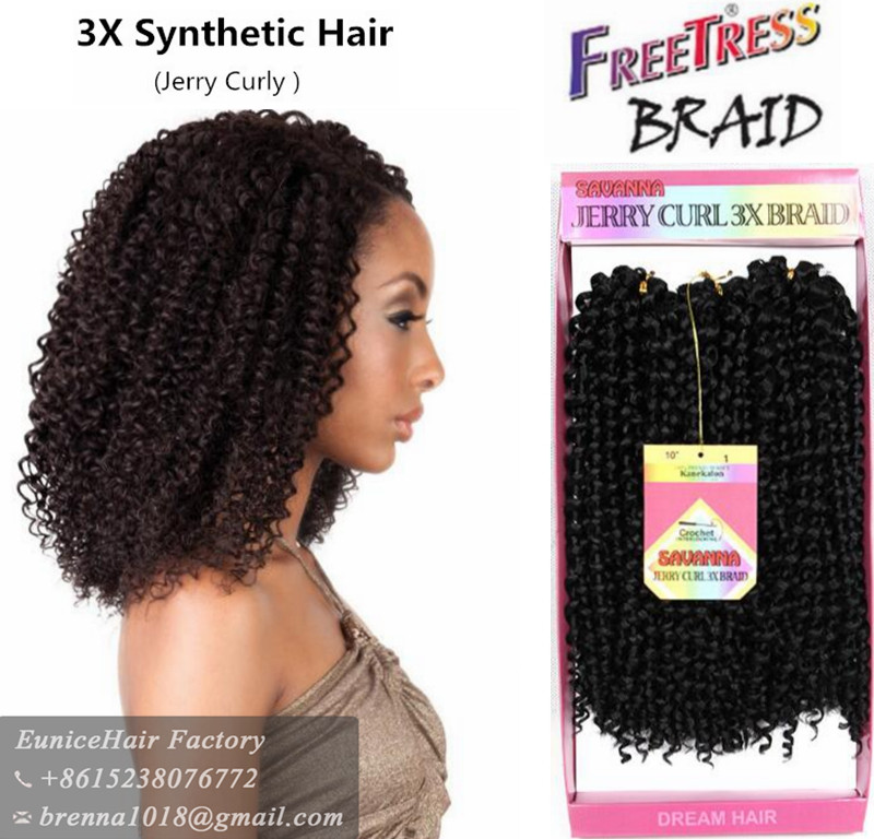Synthetic cheap hair bundles South africa single braids hair 3x freetress water wave curl freetress deep twist bulk hair bundles