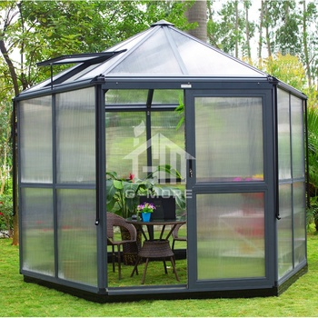 DIY Aluminium Polycarbonate Hexagonal Greenhouse Kit