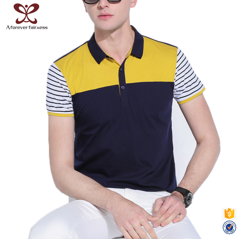 2017 Latest Summer Fashion Slim Fit t shirts Short Sleeve Casual Polo t shir