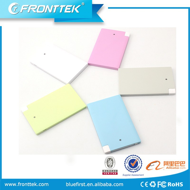 Best Quality Card Power Bank for Promotonal Christmas Gift 2300mah