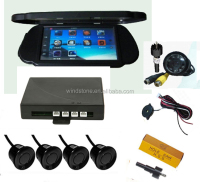 "Exclusive New Style 7"" TFT LCD Monitor Car Rear View Mirror Reverse Camera Video Parking Sensor 4 Sensors"