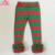 Christmas Triple Ruffle Leggings 100% Cotton Toddlers Icing Legging Red And Green Striped Icing Pants