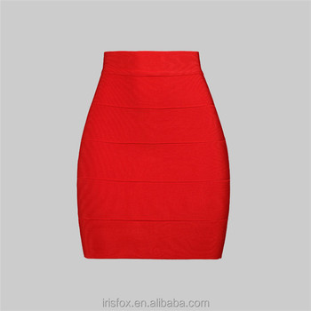 Detachable Skirt Prom Dresses High-waisted Spandex Tight Red ...