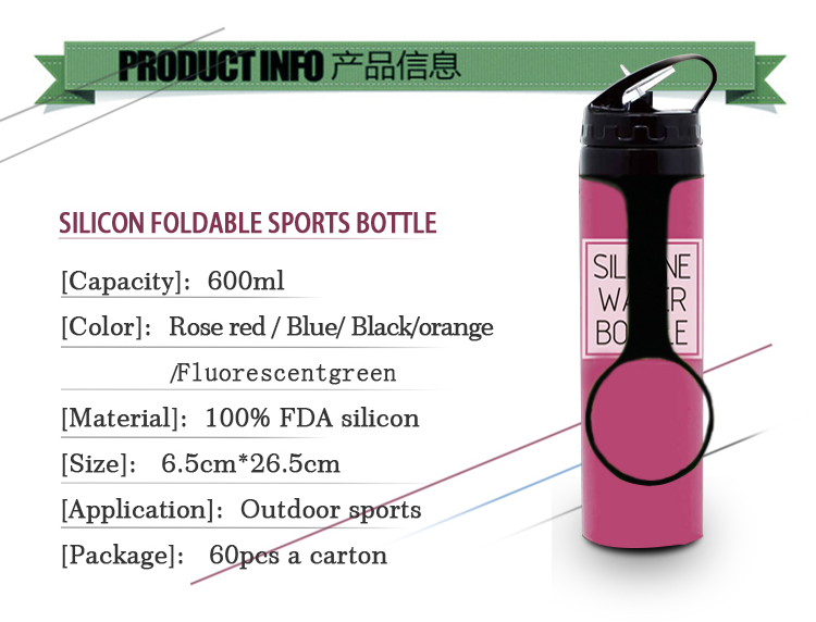 New Product Ideas 2019 Folding Water Bottle Collapsible Roll UP Bottle