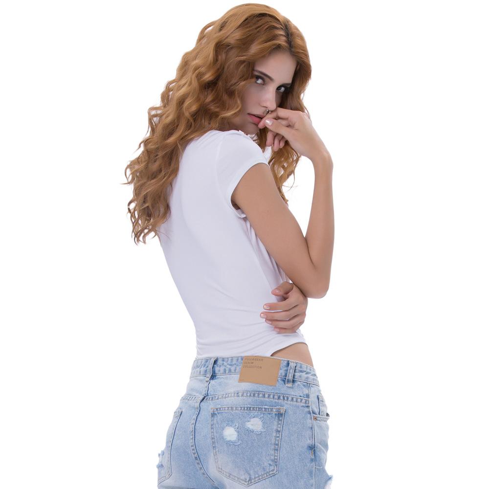 e4e8abdc1464 Kate Kasin Sexy Women's Cap Sleeve Lace-Up Front White Bodysuit Teddy  Leotard KK000694-