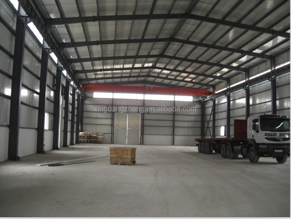 industrial large span metal frame storage warehouse
