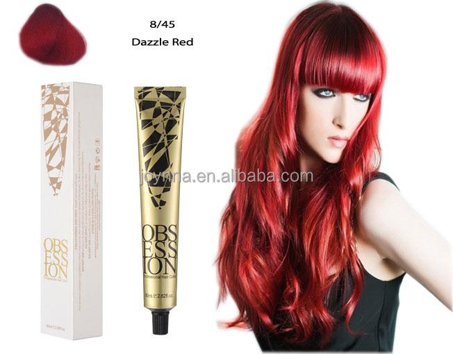 Tintes de cabello rojo