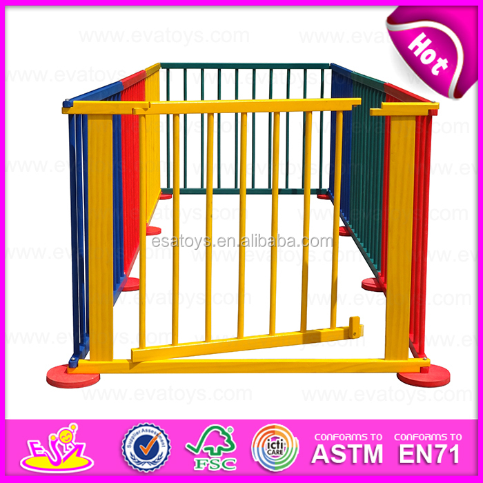 2017 Top Sale Folding Kids Play Wooden Safety Yard Baby Pen W08h006
