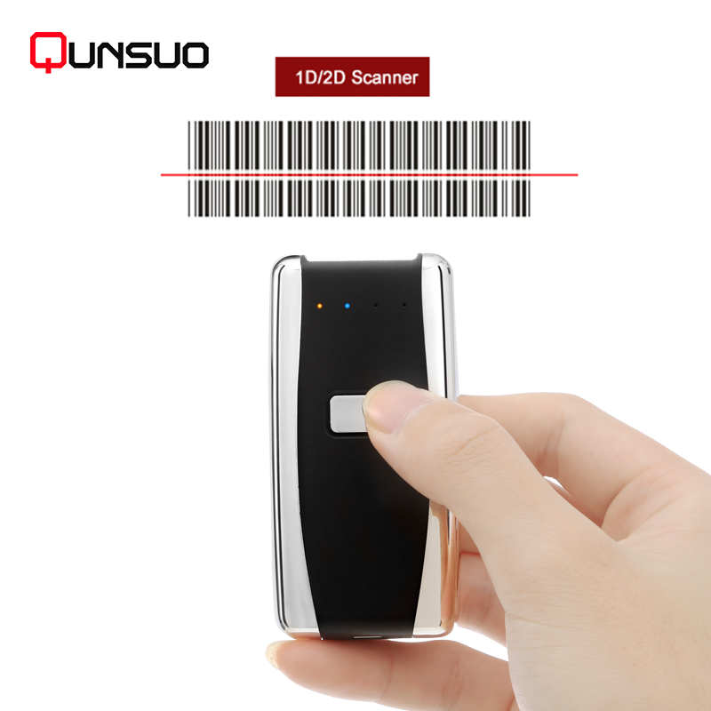 Portable Wireless Laser Barcode Mini Scanner with Memory