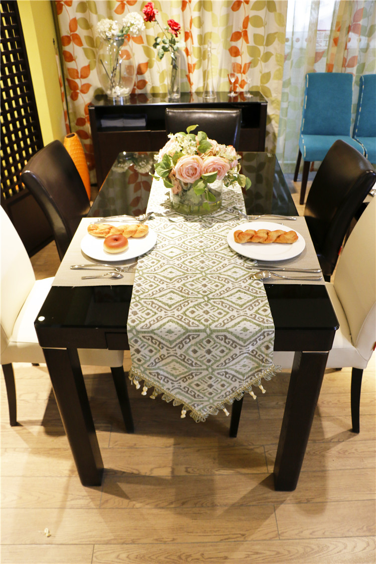 Modern design applique style table runner