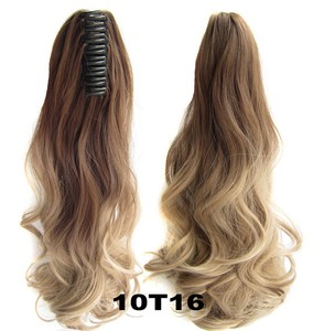 aliexpress 100% human hair pieces , claw clip ponytails claw clip ponytail hair extensions