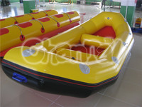New Style PVC Tarpaulin White Water Raft / Inflatable Rafting Boat