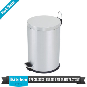Stainless Steel Foot Pedal Trash Can