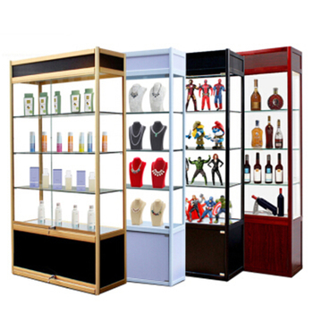 Glass Display Cabinet Mobile Phone Products Tobacco And Alcohol