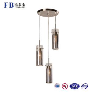 Factory Supply Decorative Sand Nickel Chromium Hanging Pendant Light Chandelier