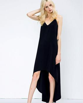 144b27244 2018 dobladillo irregular frente corto espalda larga casual vestido de mujer  sexy