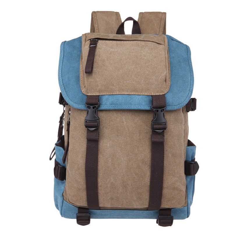 China suppliers cheap wholesale 16oz washed canvas vintage durable school backpack