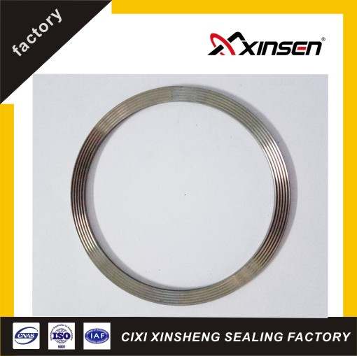 SS304 stainless steel corrugated metal gasket