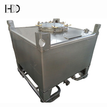 small square stainless steel oil IBC tote tank