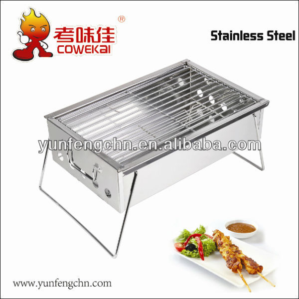 Portable stainless steel gas burner
