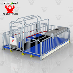 Pig Farming Equipment Swine Sow Farm Galvanized Cage Farrowing Crate For Sale