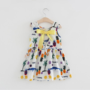 SEV.WEN baby gril clothes trendy floral print summer baby girls dress designs