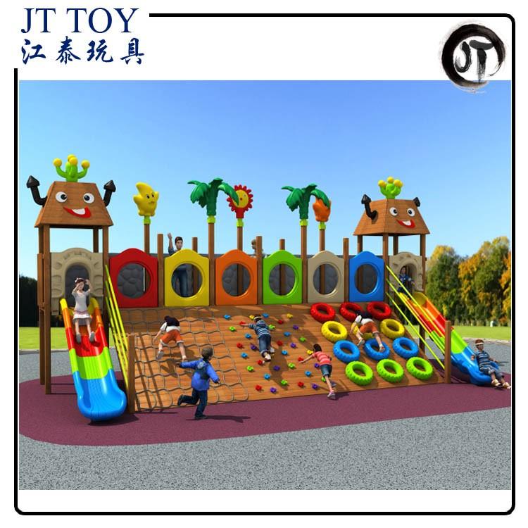 novel design outdoor climbing slide children wooden park math