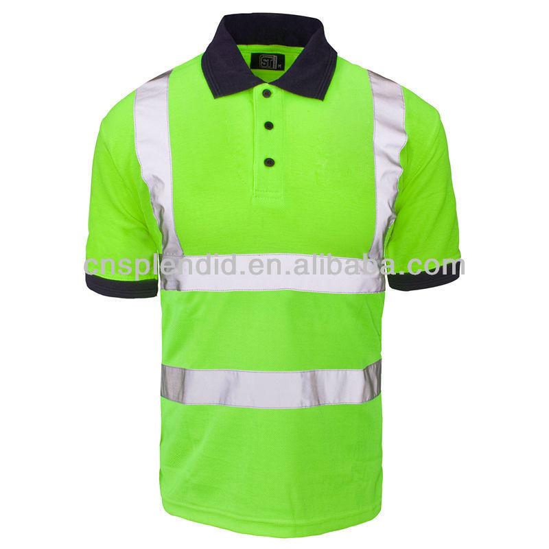 4d0945dbd 3m reflective safety hi vis polo shirt men wholesale fluorescent polo shirts