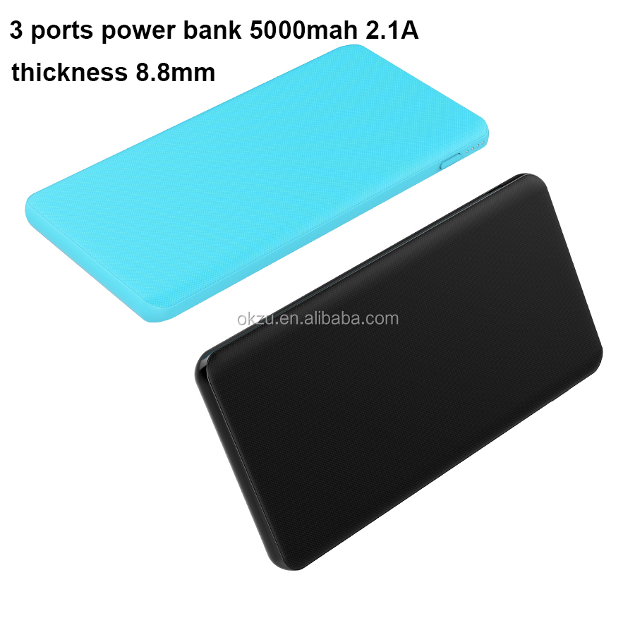shenzhen manufacturers and suppliers 3 ports output universal power bank charger 5000mah