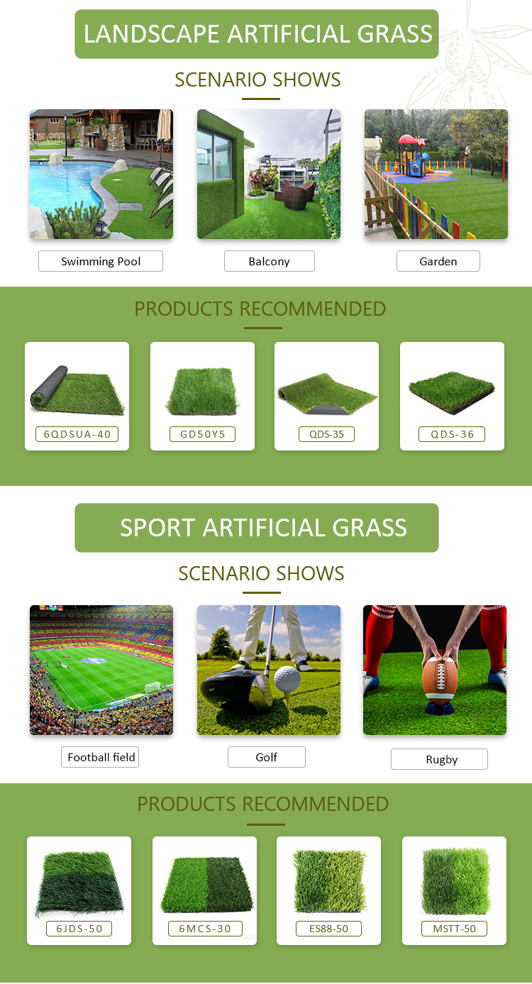 Good quality football artificial landscape grass roll